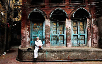 The Red, White, Blue, Brick and Stone of Peshawar City